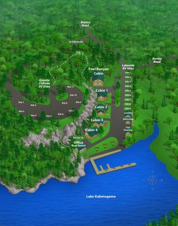 Kabetogama, MN: Map of the resort