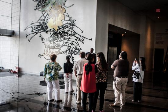 Take an art tour at AT&T Stadium, the only one of it's kind.