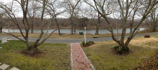 House on Chase Creek: Panoramic view from from front porch.