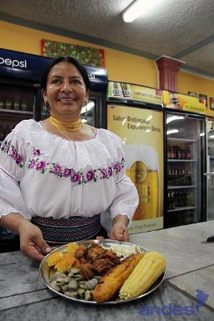 Atuntaqui, Ecuador: The waitress.