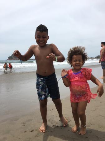 Mazatlan Van Tours: My grandkids enjoying the beach