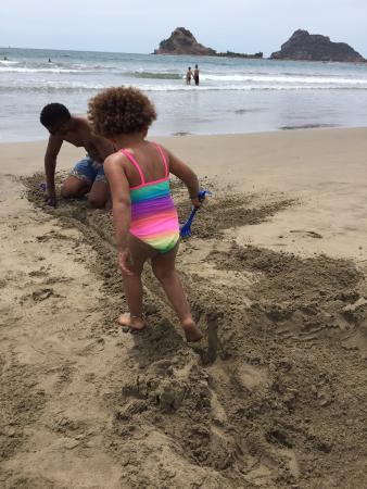 Mazatlan Van Tours: On the beach at Stone Island
