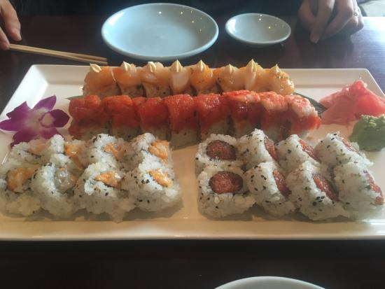 Kildeer, IL: White dragon, red dragon, spicy salmon and spicy tuna