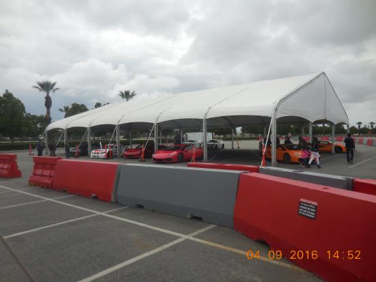 Fontana, CA: Some of the cars beside the track