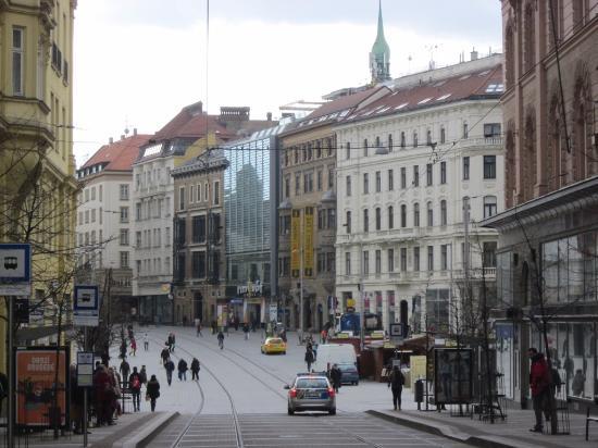 Brno, Çek Cumhuriyeti: дом на площади Свободы