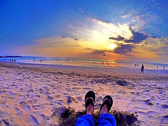 kuta beach bali sunset di pantai kuta