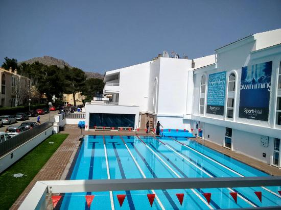 hoposa hotel apartments villaconcha half size olympic 6 lanes heated swimming pool