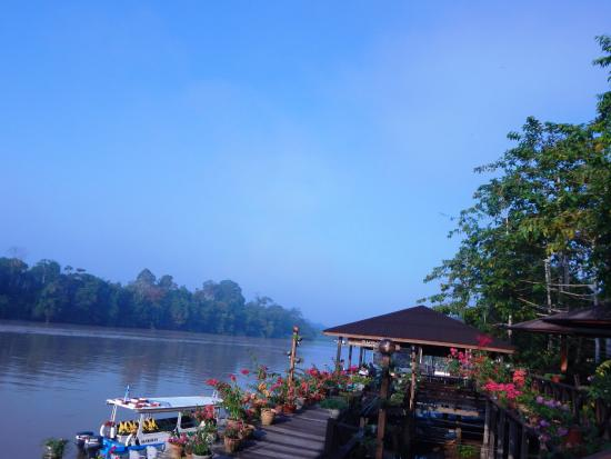 Abai Jungle Lodge: arriving at the lodge by boat