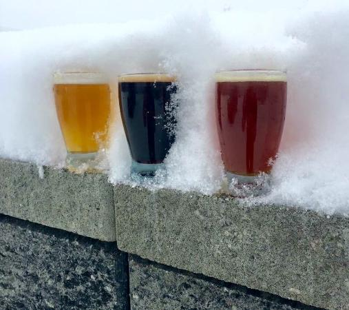 Wasilla, AK: Three beers in the snow