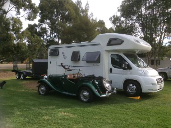 McLaren Vale, Australia: Visiting for the Vintage & Classic weekend - April 2016. Our MG TD & Avan motor home