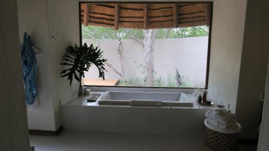 Londolozi Private Game Reserve, Afrika Selatan: Great Tub with Picture Window