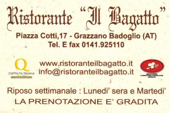 Grazzano Badoglio, إيطاليا: Un posto dove si mangia bene