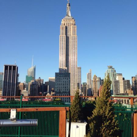 Vue superbe sur l'Empire State building