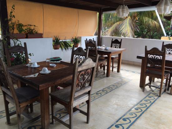 Posada Albacora : terraza
