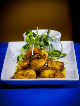 Allegra Restaurant : Chili & ginger marinated tiger prawns