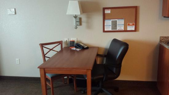 Candlewood Suites La Crosse: There is power and LAN internet if needed.