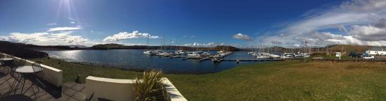 Lochgilphead, UK: Panoramic view of Craobh Haven marina and surrounds (taken from Lord of the Isles).
