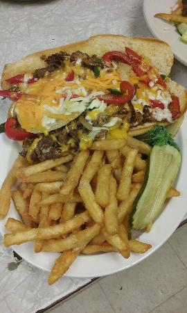 Mercer, بنسيلفانيا: Philly Cheese Steak