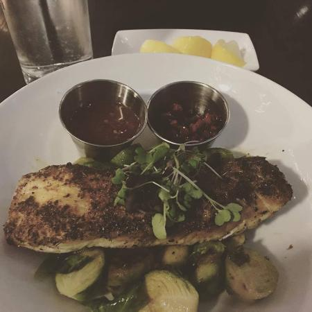 Fish Restaurant + Bar: Halibut with Brussel Sprouts