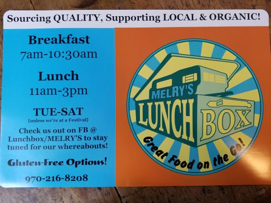 """Grab some """"Great Food on the Go"""" in downtown Ridgway, CO   across from Cimmaron books & coffee!"""