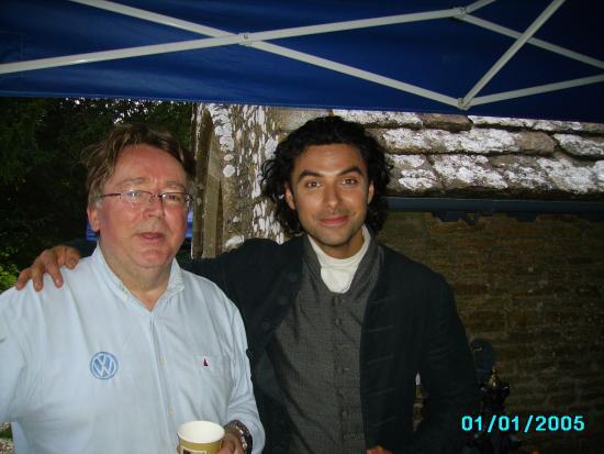 Chavenage House: Aidan Turner back filming Poldark 2