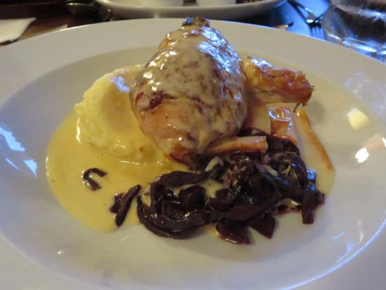 Prestwick, UK: Chicken stuffed with Haggis