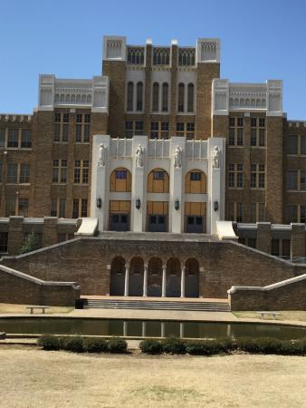 Little Rock Central High School: Doors are being redone, replaced with plywood in this photo