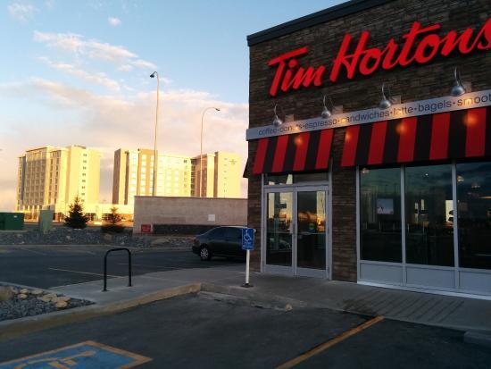 at the tim hortons across the hotel hampton inn and homewood in the rh tripadvisor ca