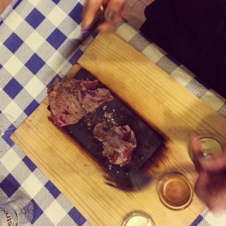 Steak on a stone, again!