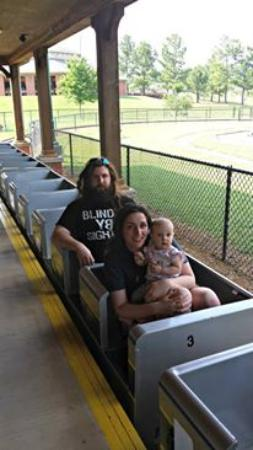 The Family on the train at the Shelby City Park