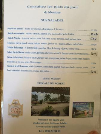 Le Lamentin, Martinique: La carte des salades