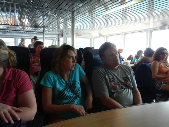 Road Town Fast Ferry : Enjoying the AC salon in the ferry.