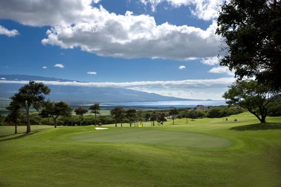 Kahili Golf Course: Hole #1- Beautiful View Looking Over Ma'alaea Harbor