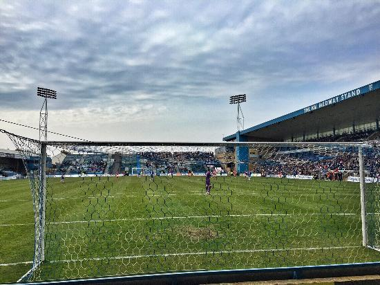 Priestfield Stadium: View from the home section.