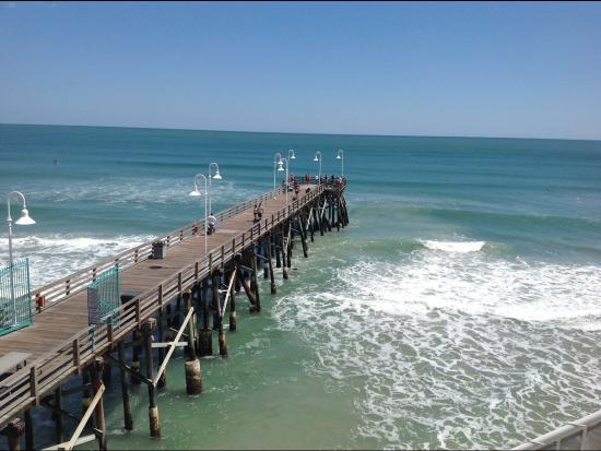 Joe S Crab Shack Looking At The Pier Below Bar On Top Of Restaurant