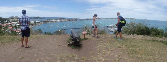 Simpson Bay, St Martin / St Maarten: Frank took us to the top of Fort Louis