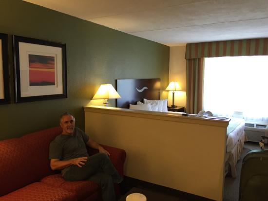 Quality Inn & Suites: We enjoyed our stay, the staff was friendly the room was great and the General Manager James Fer