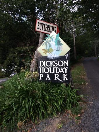 Dickson Holiday Park: Welcome to the park and the Butterflies :)