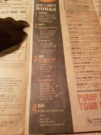 The Works Oakville >> Menu 2 Picture Of The Works Oakville Tripadvisor