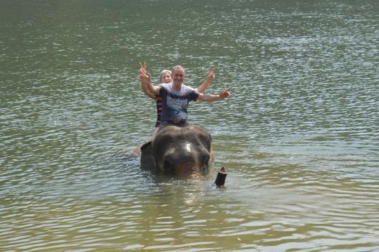 Anda Lanta Resort: Baignade avec l'éléphant à Kanchanaburi