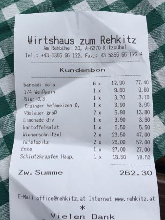 Wirtshaus zum Rehkitz: Expensive and not good !!!