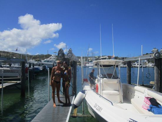 Oyster Pond, St. Martin/St. Maarten: Captain Colleen & Debbie