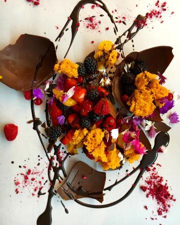 Delicious dessert and beautiful presentation!