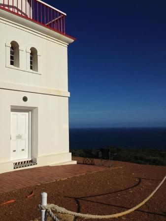 Cape Borda Lighthouse Keepers Heritage Accommodation: The lighthouse view