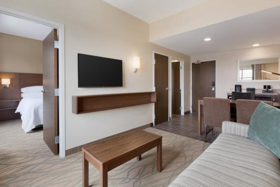 Emby Suites By Hilton Akron Canton Airport Living Room King 1 Bedroom Suite