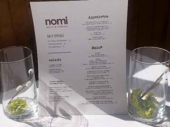 Harcourt, كندا: NOMI - Lounge/Bar Menu