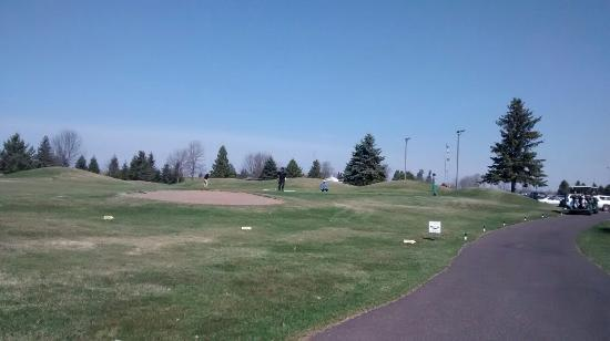 Rice Lake, WI: Activity on green @ #6