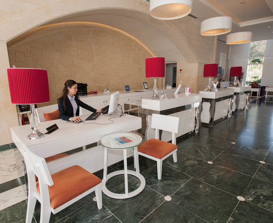 Front Desk at the Radisson Blu Resort & Thalasso