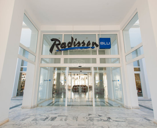 Entrance at the Radisson Blu Resort & Thalasso