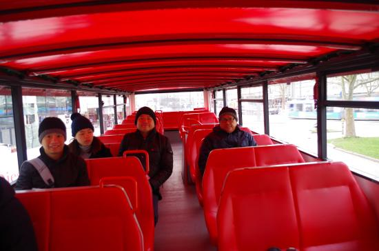City Sightseeing Munich: At the upper deck of the bus